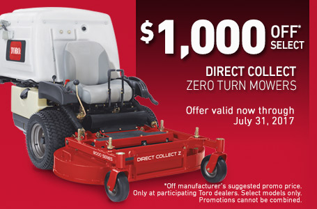 $1,000 Off* Select Direct Collect Zero Turn Mowers