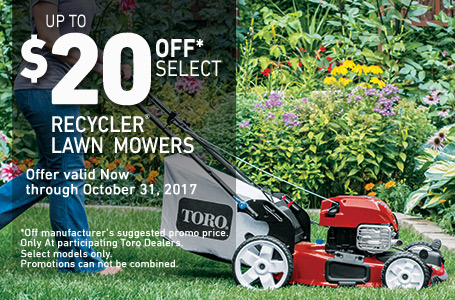 $20 Off Select Recycler FWD High Wheel Mowers