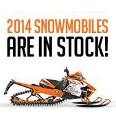 2014 Snowmobiles are in stock!