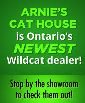 Arnie's Cat House is Ontario's Newest Wildcat dealer! Stop by the showroom to check them out!