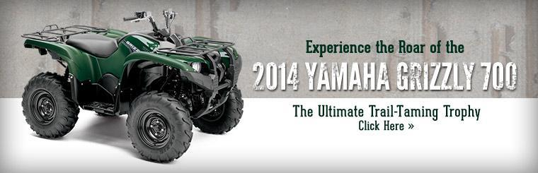 2014 Yamaha Grizzly 700: Click here to view the model.