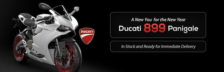 The 2014 Ducati 899 Panigale is in stock and ready for immediate delivery.