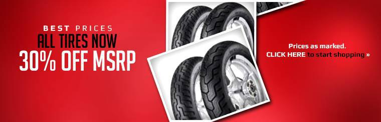 All tires are now 30% off MSRP! Click here to start shopping.