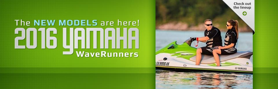 2016 Yamaha WaveRunners: Click here to view the lineup.