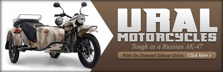 Ural motorcycles: tough as a Russian AK-47.