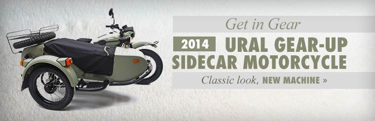 Get in gear with the 2014 Ural Gear-Up sidecar motorcycle. Click here to check it out.