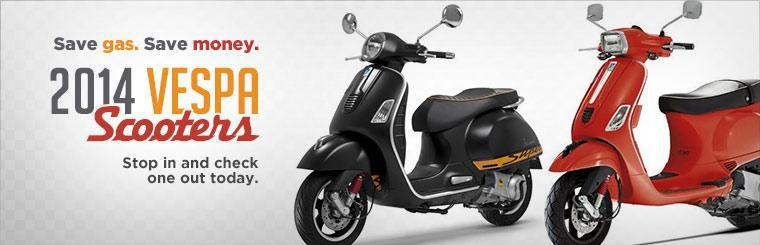 Click here to view the 2014 Vespa scooters!