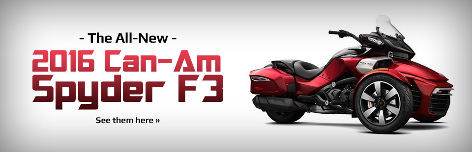 Click here to see the all-new 2016 Can-Am Spyder F3!