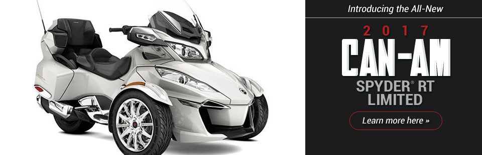 Introducing the All-New 2017 Can-Am Spyder® RT Limited: Click here to learn more.