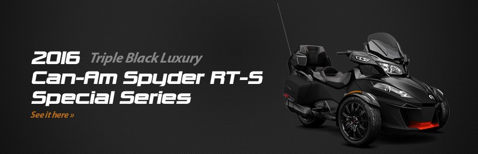 2016 Can-Am Spyder RT-S Special Series: Click here for details!