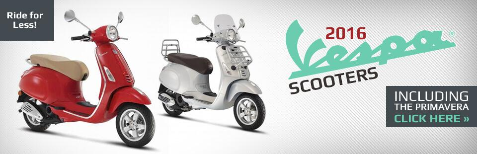 2016 Vespa Scooters: Click here to view the models.