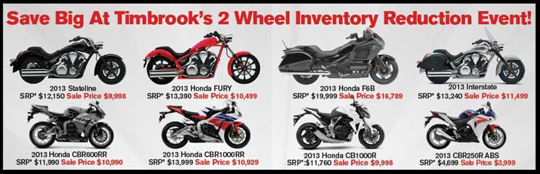 2 Wheel Inventory Reduction Event