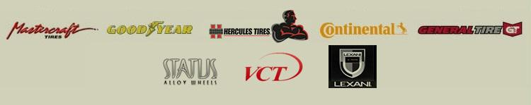 We carry products from Mastercraft, Goodyear, Hercules, Continental, General, Status, Star, Forgiato, VCT, and Amani Forged Wheel.