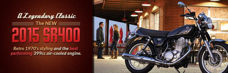 The new 2015 Yamaha SR400 is a legendary classic. Click here to check it out.
