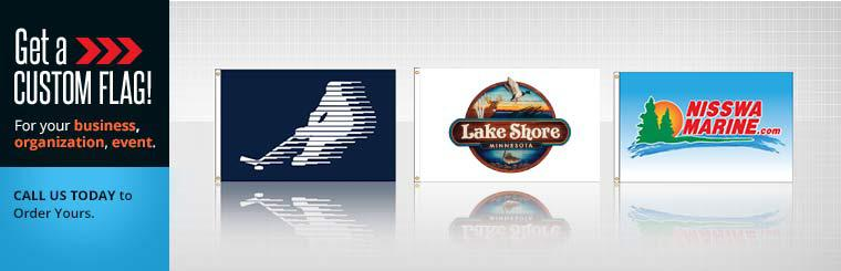 Get a custom flag for your business, organization or family at Falls Flag Source