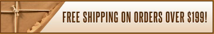 Free shipping on orders over $199!