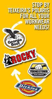 We offer Georgia boots, Rocky boots, Dickie work wear, Youngstown gloves, and much more!