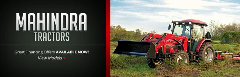 Mahindra Tractors: Great financing offers are available now! Click here to view the models.