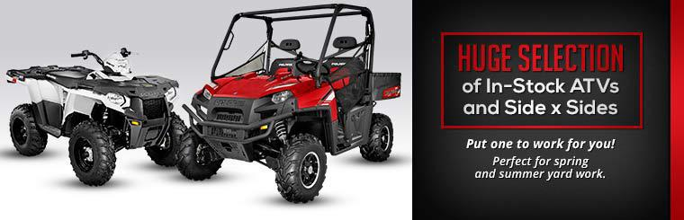 Huge Selection of In-Stock ATVs and Side x Sides: Click here to view the models.