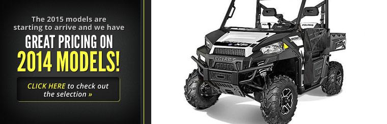 The 2015 models are starting to arrive and we have great pricing on 2014 models! Click here to check out the selection.