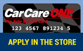 CarCareONE Card: Apply in the store!