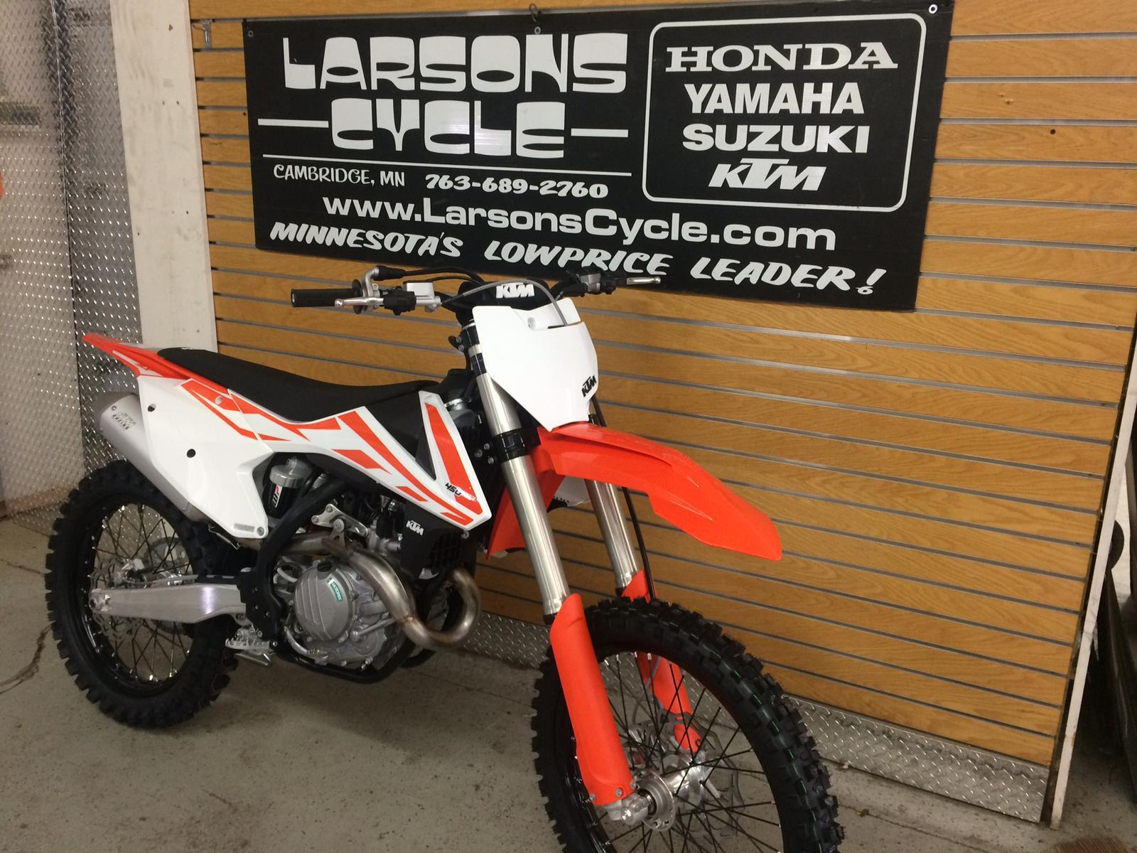 2017 ktm 450 sx-f for sale in cambridge, mn | larson's cycle inc