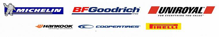 We carry products from Michelin®, BFGoodrich®, Uniroyal®, Hankook, Cooper and Pirelli.