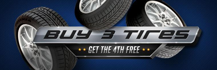 Buy 3 New Tires, Get the 4th Free