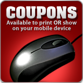 Coupons: Available to print OR show on your mobile device.