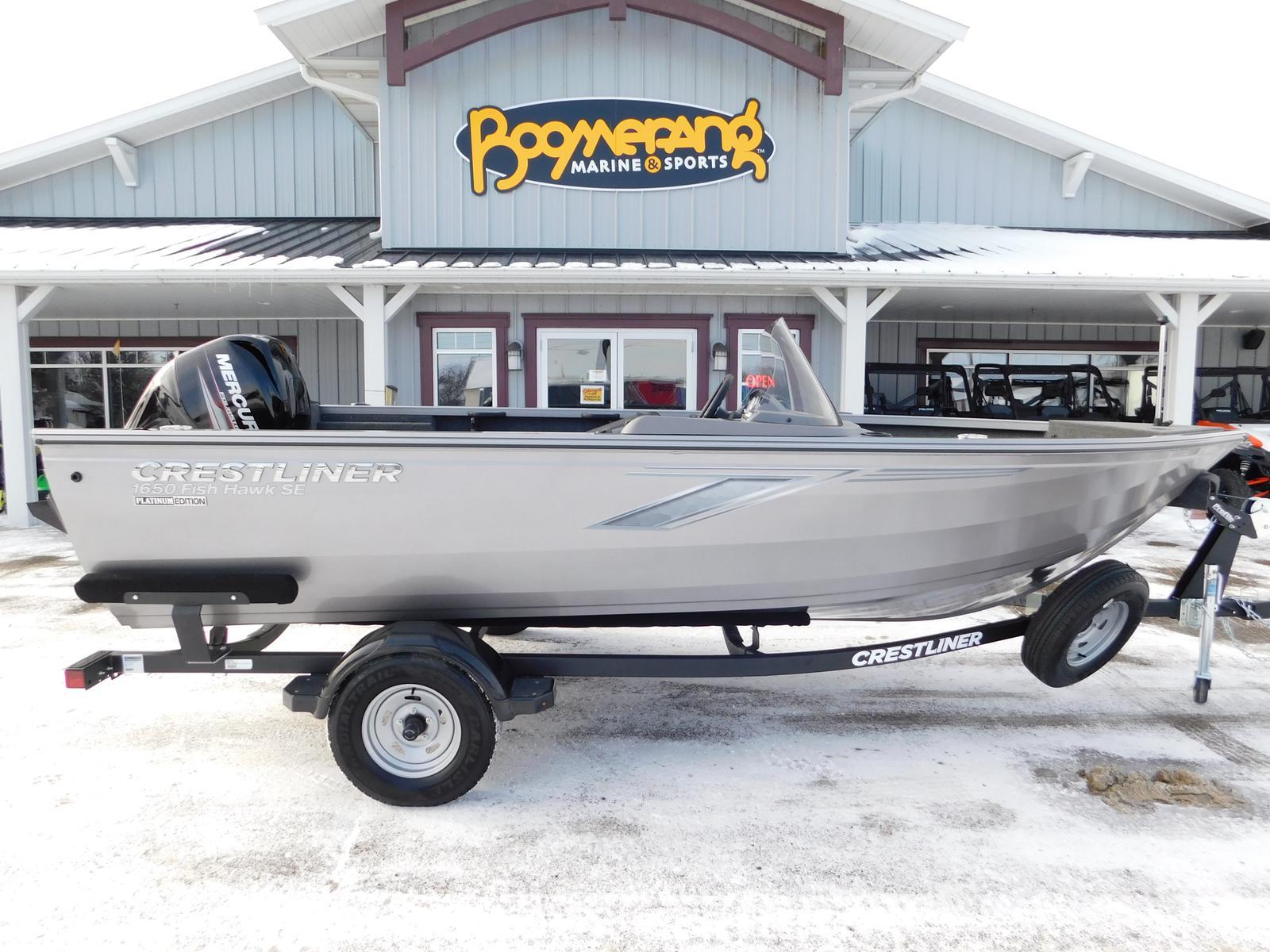 2019 Crestliner 1650 Fish Hawk SC W/ Mercury 60 for sale in