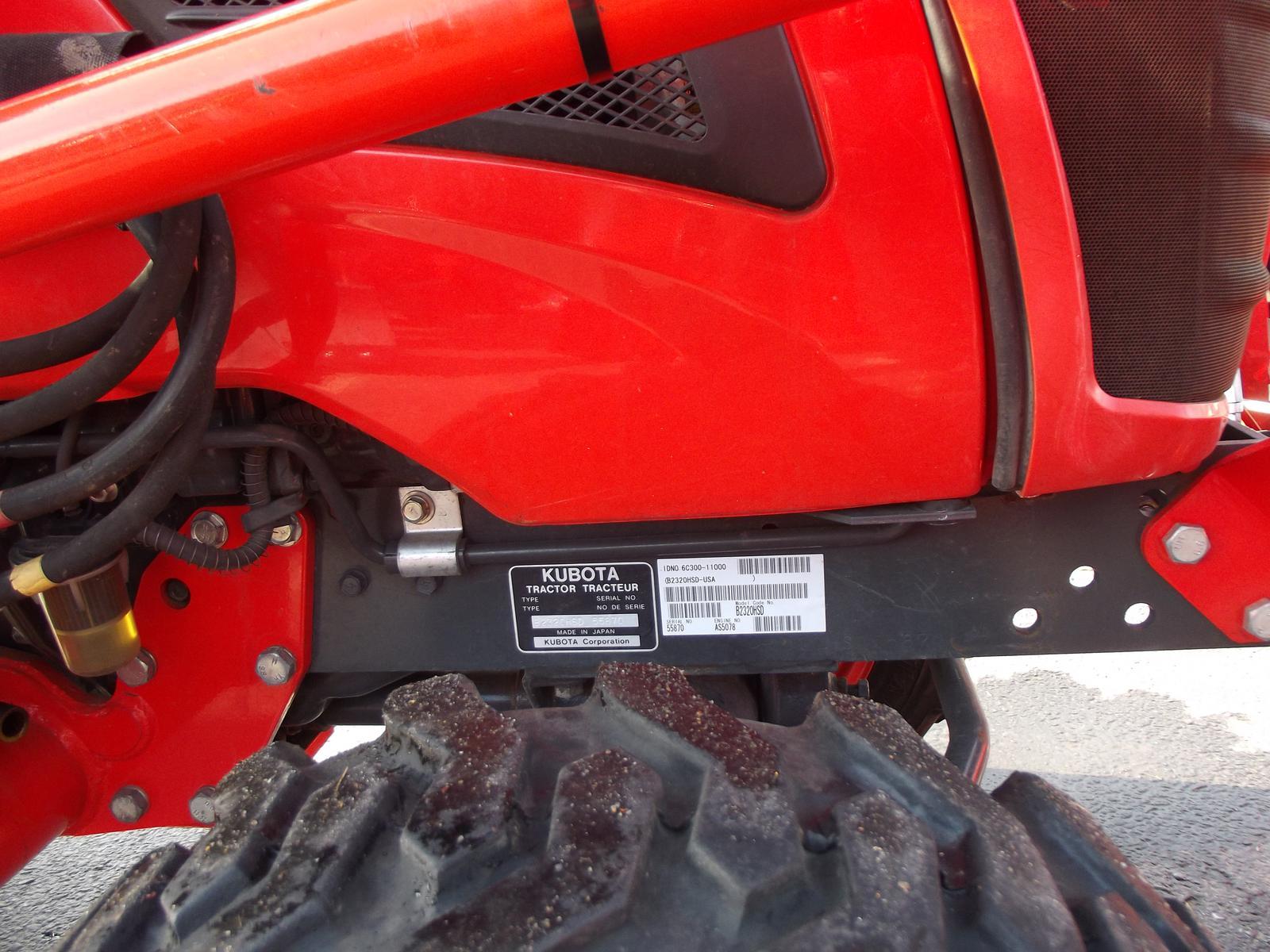 2012 Kubota B2320 - Hydrostatic Transmission for sale in