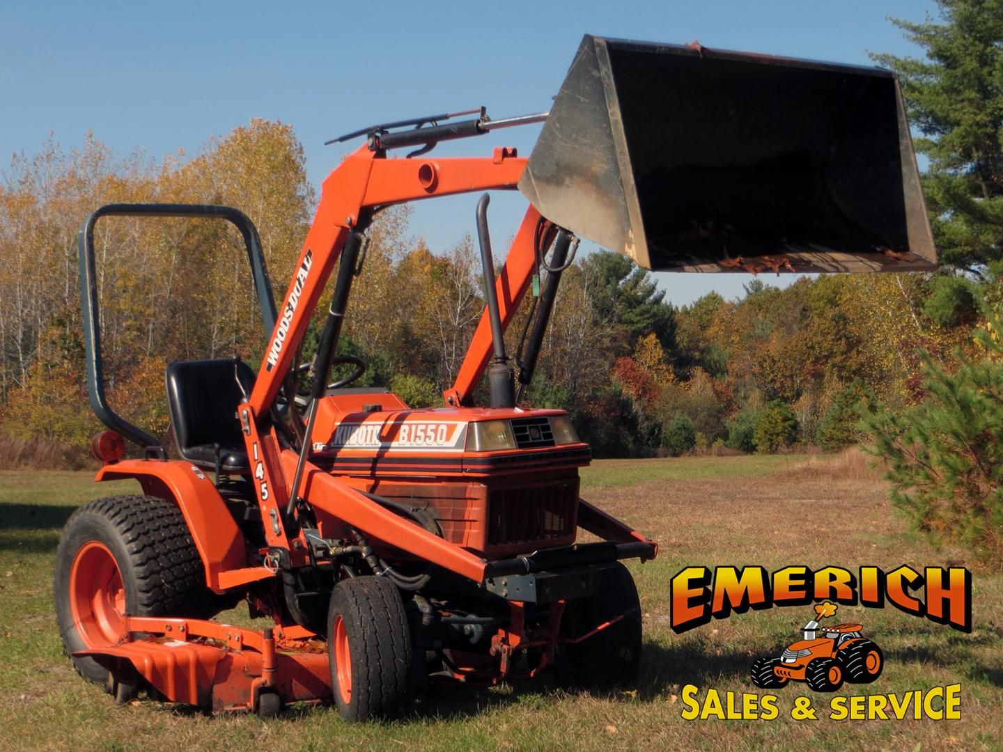 1993 Kubota B1550DT for sale in Fort Edward, NY. Emerich Sales ...