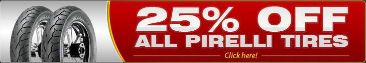 25% OFF All Pirelli Tires – Click here!