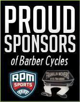 Proud Sponsors of Barber Cycles.