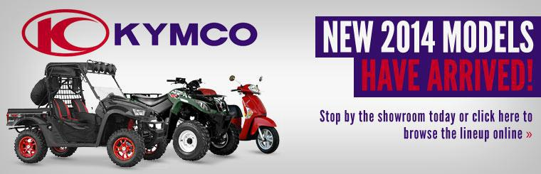 New 2014 KYMCO Models Have Arrived: Stop by the showroom today or click here to browse the lineup online.