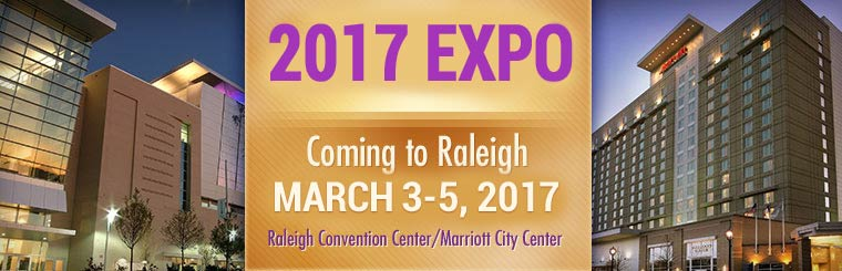 The 2017 Expo is coming to Raleigh March 3-5, 2017!