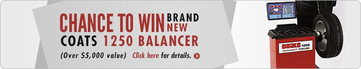 Click here for a chance to win a brand new COATS 1250 Balancer.
