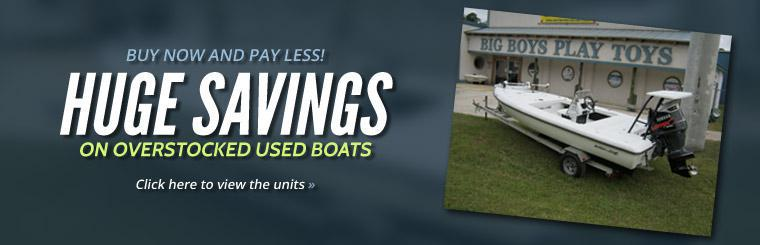 Huge Savings on Overstocked Used Boats: Click here to view the units.