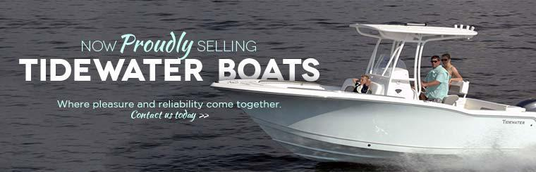 Now Proudly Selling TideWater Boats: Contact us today for details.