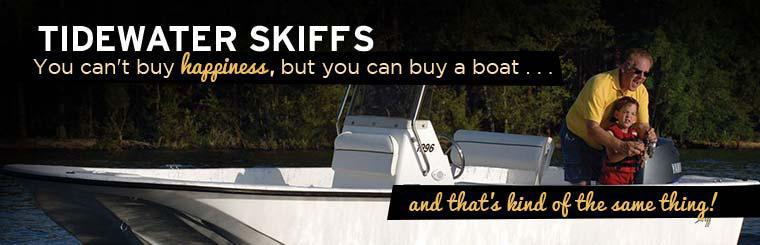 Proudly Selling TideWater Skiffs: Contact us today for details.