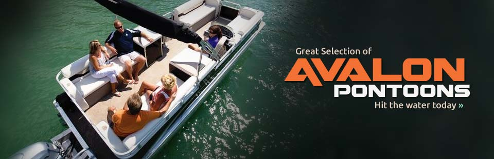 We have a great selection of Avalon pontoons in stock. Click here to view our inventory.