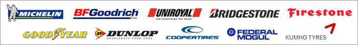 We carry products from Michelin®, BFGoodrich®, Uniroyal®, Bridgestone, Firestone, Goodyear, Dunlop, Cooper, Federal, and Kumho.