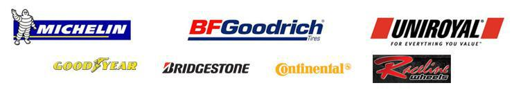 We carry products from Michelin®, BFGoodrich®, Uniroyal®, Goodyear, Bridgestone, Continental, and Raceline.