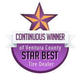 Continuous Winner of Ventrura County Star Best Tire Dealer from 1992 to 2014!