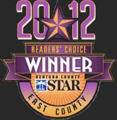 Jim's Tire Center is also proud to be a winner of the Ventura County Star's 2012 Readers Choice Awards
