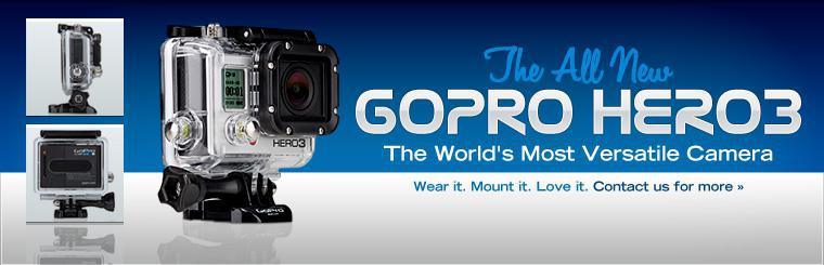 The all new GoPro HERO3 is the world's most versatile camera. Click here to contact us for more information.