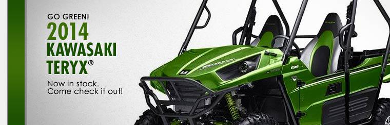 The 2014 Kawasaki Teryx® is now in stock!