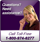 Questions? Need assistance? Call toll-free 1-800-974-6277