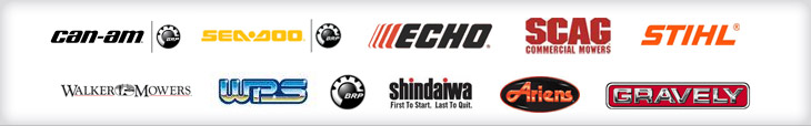 We carry products from Can-Am, Sea-Doo, Echo, SCAG, STIHL, Walker Mowers, WPS, BRP, Shindaiwa, Ariens, and Gravely.