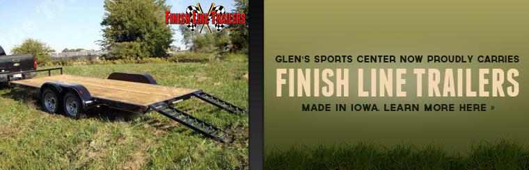 Glen's Sports Center now proudly carries Finish Line trailers! Click here to learn more.